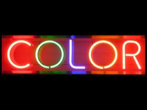 Color. Neon sign Stock Photo