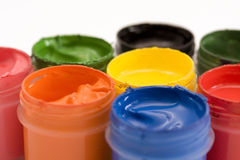 Color. Paints of all colors of rainbow for drawing royalty free stock photography