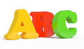 Color ABC Letters over white background. Computer generated stock illustration