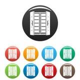 Color abierto del sistema de los iconos del refrigerador stock de ilustración