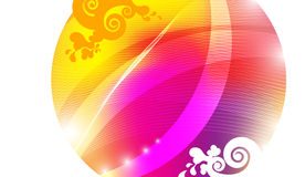 Color Absraction Circle. Background Color Abstraction Circle with lines stock illustration