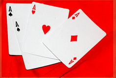 Color  abstract ace card poker Royalty Free Stock Image