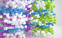 Color abstract architecture Royalty Free Stock Images
