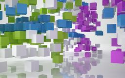 Color abstract architecture Royalty Free Stock Photos