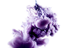 Color abstract art. Colorful abstract art ink on white isolated background stock image
