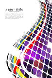 Color abstract background. Colored abstract background with squares Royalty Free Stock Photo