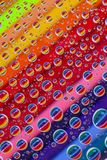 Color abstract background with drops and pencils set Stock Photo