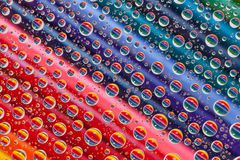 Color abstract background with drops and pencils set Stock Photos