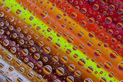 Color abstract background with drops and pencils set Royalty Free Stock Photography