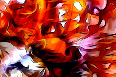 Color abstract background. flame structure. Computer collage. Earth Concept. Stock Photography