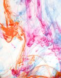 Color abstract background inks in water Royalty Free Stock Photography