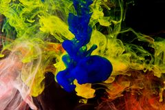 Color abstract background inks in water Stock Photos
