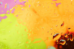 Color abstract background with water drops Stock Photography