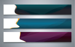 Color abstract banner set Stock Photo