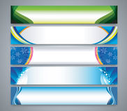 Color abstract banner set Stock Image
