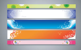 Color abstract banner set Stock Images
