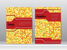 Color Abstract Book Cover Template Design Royalty Free Stock Image
