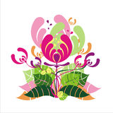 Color abstract flower Royalty Free Stock Photo