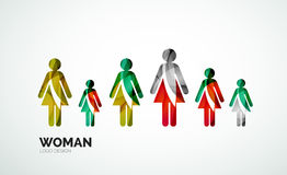 Color abstract logo woman icon Stock Photography