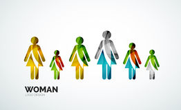 Color abstract logo woman icon Stock Images