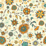 Abstract nice flower seamless pattern Stock Photography