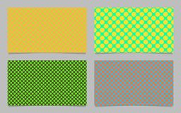 Color abstract polka dot pattern business card background set - vector id card graphic. Design Stock Photo