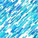 Color abstract random diagonal rounded stripe pattern background - vector design from cyan lines on white background. Color abstract random diagonal rounded Royalty Free Stock Photography