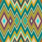 Color Abstract Retro Zigzag Vector Background Stock Images