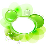 Color abstract with transparent bubbles and drops Royalty Free Stock Photo