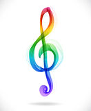 Color abstract treble clef Royalty Free Stock Photography