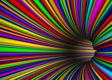 Color abstract tunnel Royalty Free Stock Photo