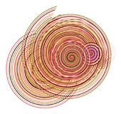 Color abstract twirl circle lines geometric pattern generative art background. Illustration, circles, design & concept. Color abstract twirl circle lines Stock Image