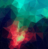 Color Abstract vector mosaic. triangle geometric background Stock Image