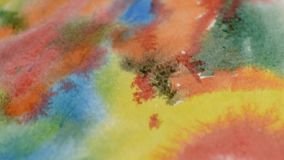 Abstract watercolor slider shot stock footage