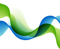 Color abstract waves. Vector illustration Stock Photography