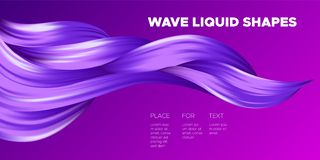 Color Abstraction. Purple Wavy Fluid Shapes. Trendy Vector Illustration EPS10 for Your Creative Design. vector illustration