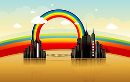 Color abstracto de la ciudad Fotos de archivo