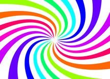 Color abstracto de la torsión del arco iris con el fondo blanco para su plantilla y diseño web ilustración del vector
