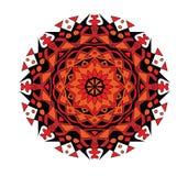 Color abstracto del negro del modelo, anaranjado y rojo Foto de archivo