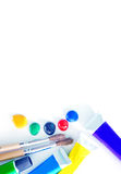 Color acrilic paint Royalty Free Stock Images