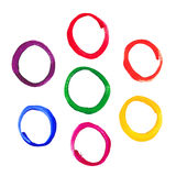 Color acrylic round frames Royalty Free Stock Photography