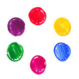 Color acrylic round spots. Vector illustration of Color acrylic round spots Stock Photos