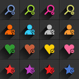 Color additional sign flat icon Stock Photos