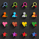 Color additional sign flat icon Royalty Free Stock Photography