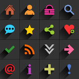 Color additional sign flat icon Stock Image