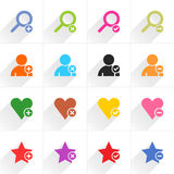 Color additional sign flat icon Royalty Free Stock Image