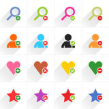 Color additional sign flat icon Stock Images