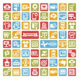 Color advertising icons set royalty free illustration