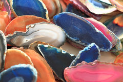 color agate mineral collection Stock Photography