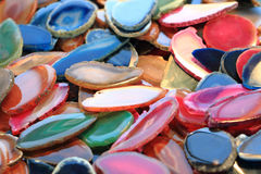color agate mineral collection Stock Images